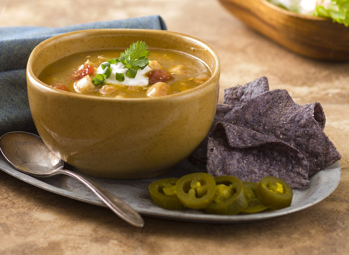 187 Kicked Up Green Chile Chicken Tortilla Soup