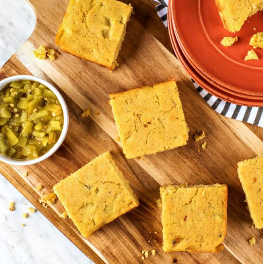 Hatch-Green-Chile-and-Corn-Cornbread
