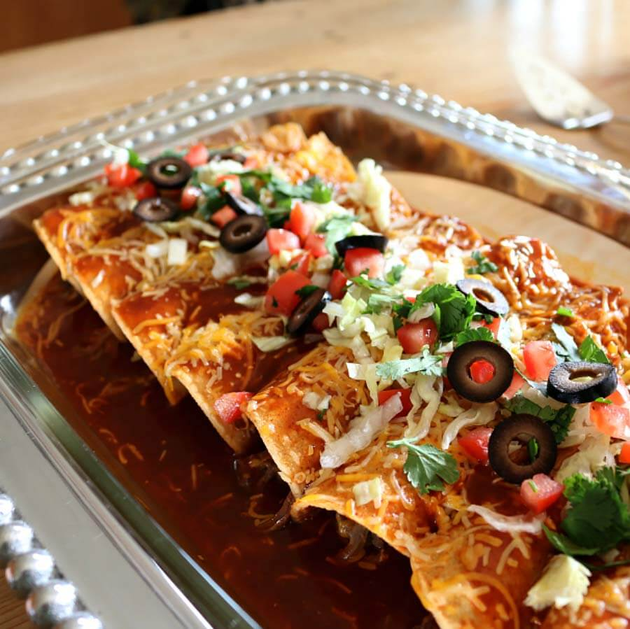 Hatch Beef Enchilada Recipe with Gluten Free Enchilada Sauce