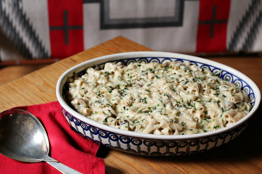 Green Chile Chicken Pasta Casserole