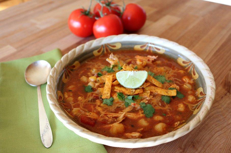 Hatch Chicken Enchilda Soup