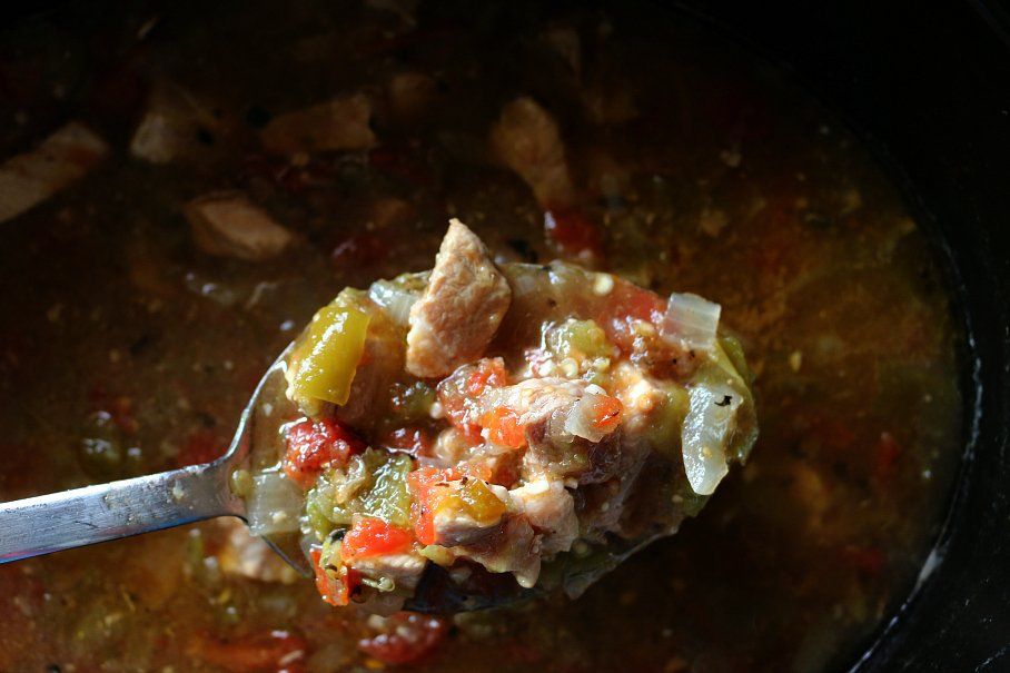 Slow Cooker Green Chile Stew
