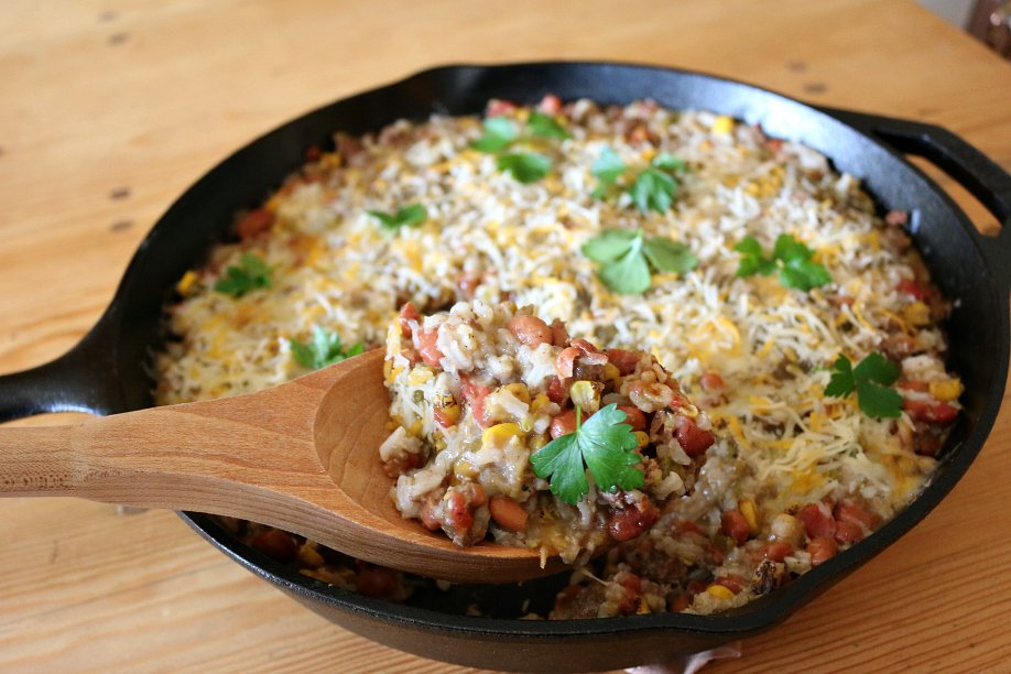 Hatch Green Chile Mexican Skillet Dinner