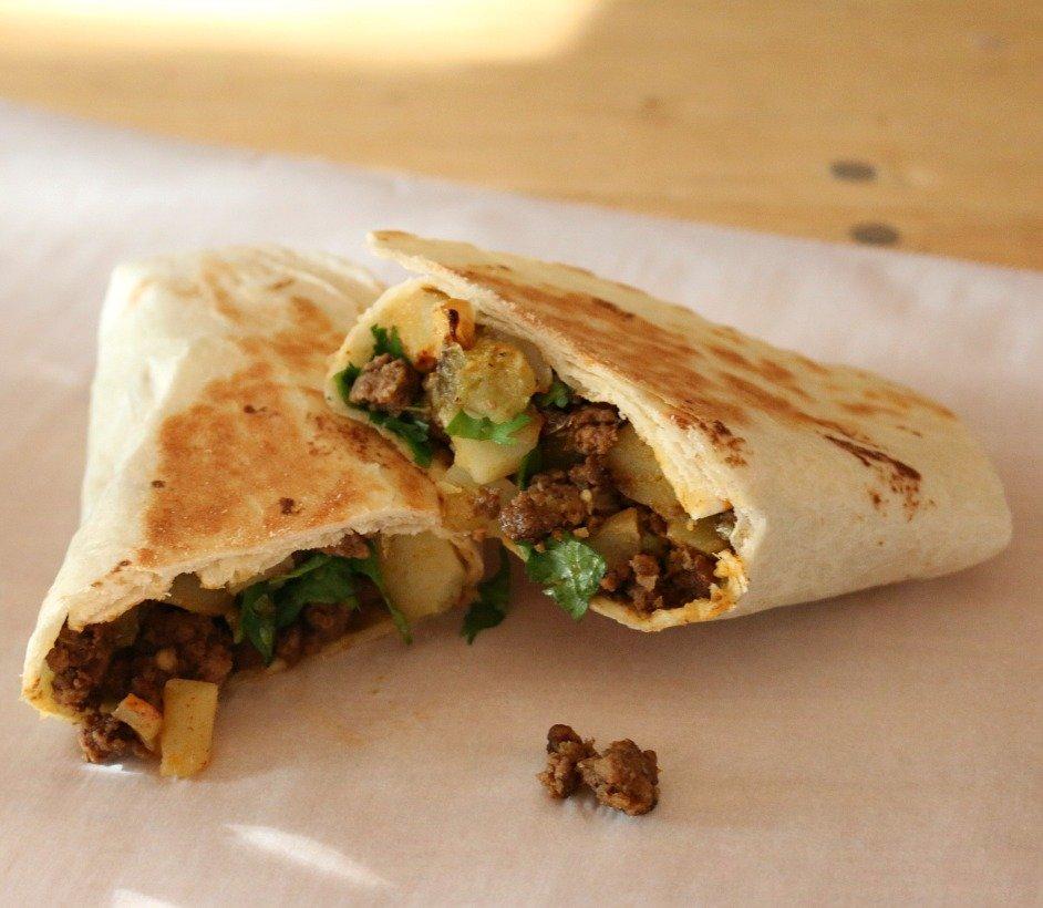 Hatch Hand Held Beef Burrito