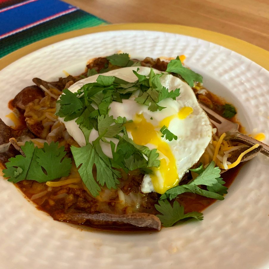 Hatch Breakfast Red Chile Chilaquiles