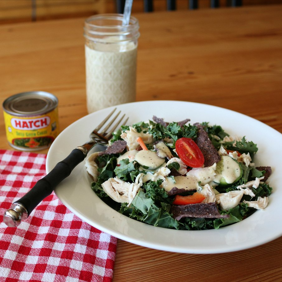 Southwestern Chicken Salad with Hatch Green Chile Ranch Dressing